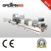 GAOTIAN brand SHH-1600F Automatic Corrugated Pre-folder and lock bottom Box Machine / Corrugated Box Making Line Machine