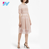 2017 newest summer fashion white lace pretty simple dress