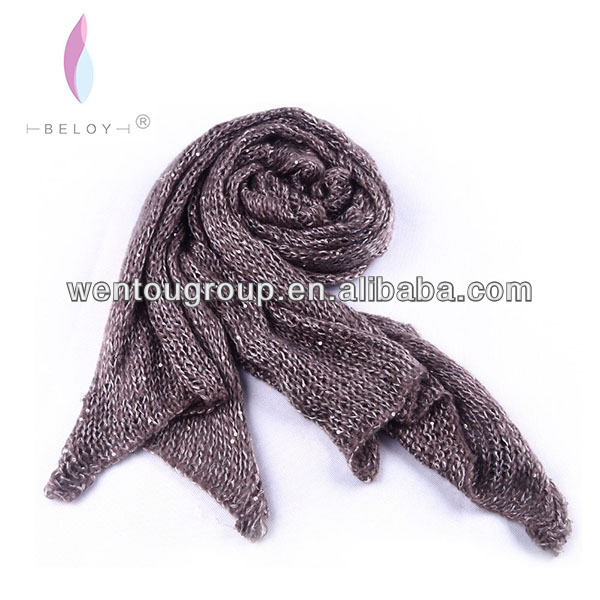 Fashion knitted winter scarf with sequin