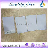 PVC ISO Card Low Frequency White Unique 125 KHz EM4200 ID Badges
