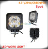 CE ROHS certification factory cheap 4.3inch 27W led working light