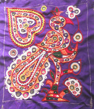 KTPA-5 Heart and Bird shape Indian traditional multi purpose patches banjara patch New embroidery designs mirror work frm Jaipur
