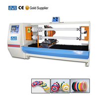 Good condition double shafts adhesive tape roll log cutting machine