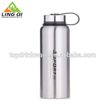 Silver color stainless steel bpa free sports water bottle with filter screen