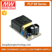 60W 24V 2.5A Power Supply PLP-60-24 Meanwell Open Frame LED Driver with PFC Function