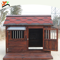 Outdoor Large Solid Wooden Dog Kennel