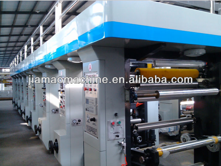 Medium-speed Computer color intaglio printing machine, roll printing machine,continuous paper gravure press