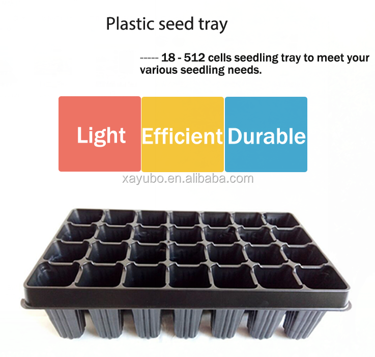 High Quality 512 Cell Black Plastic Seedling Tray For Leek