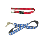 Custom print cheap polyester neck lanyard for key