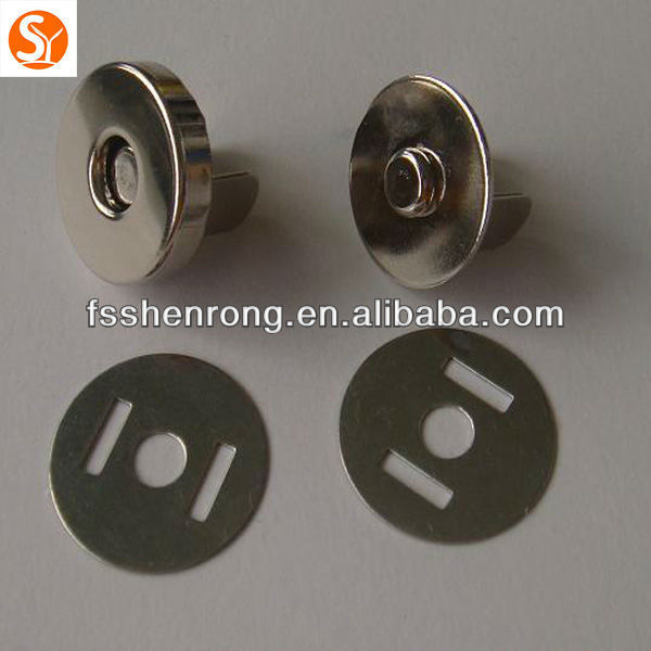 Double-color Alloy Snap Fasteners with Two Legs and Back Plate
