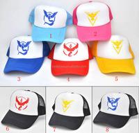walson New Pokemon GO Baseball Caps Black Hats Polyester Cotton Team Instinct Mystic Valor Logo for Women and Men fans