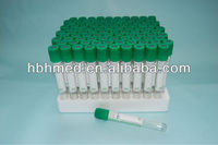 glass vacuum blood collection heparin tube
