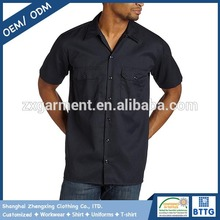 Customized Construction Industry Two Pocket Work Shirts with Embroidery Logos