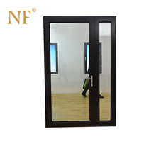 single leaf double swing door