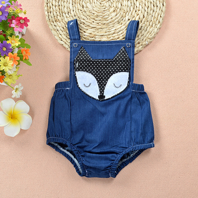 Summer Fashion New Kids Denim Bodysuit Romper Jeans Jumpsuit