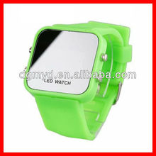 Square hot sale sport interchangeable led silicone watch wrist