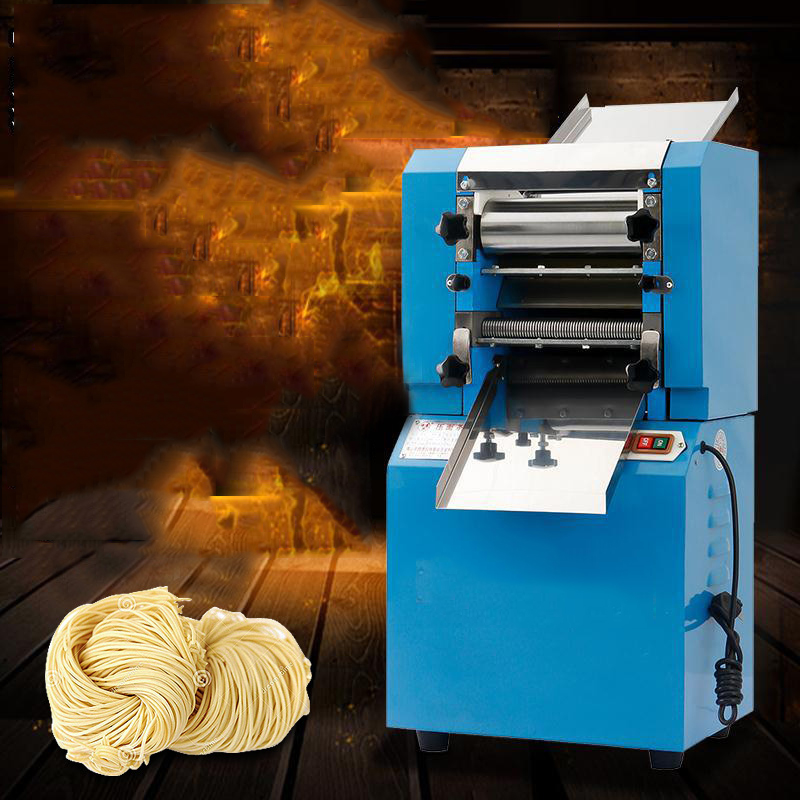 High efficiency commercial electric flat or round noodle making machine dough sheeter machine