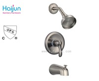 American used cUPC brushed nickel shower faucet set
