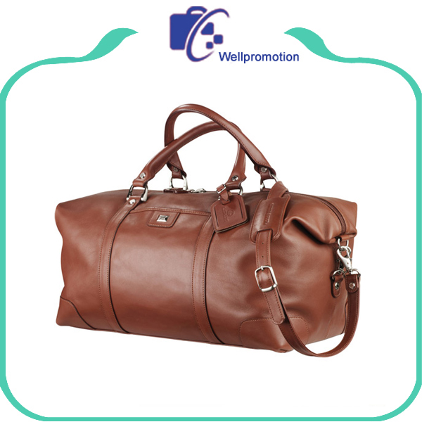 Fashion style travel leather duffel bag custom duffel bag for business men