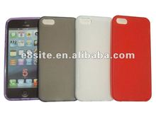 Cellular Phone Matte TPU Back Cover Case For iPhone 5