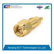 RF Application and SMA Type Male Straight Connector Soldering for flexible cable mic-1.37