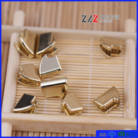 #20 big and small top stopper whole and new fashion shiny gold metal zipper accessories for zipper
