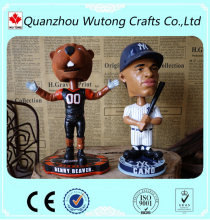 Custom Baseball League Mascot of Bobble Head Resin Souvenirs