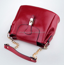red color Lady casual bags leather woman fashion leisure outdoor bag wholesale mummy baby bag