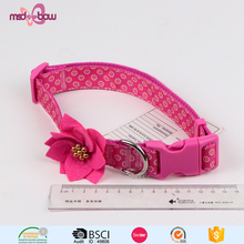 Custom printed pet flower grooming product nylon dog collar