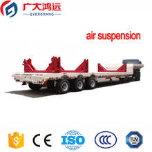 EVERGRAND manufacturing trailer air suspension 3 axles low bed semi trailer good quality for sale europe