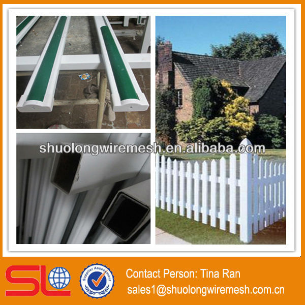 Good rigidity pvc palisade garden fence/pvc lattice fence