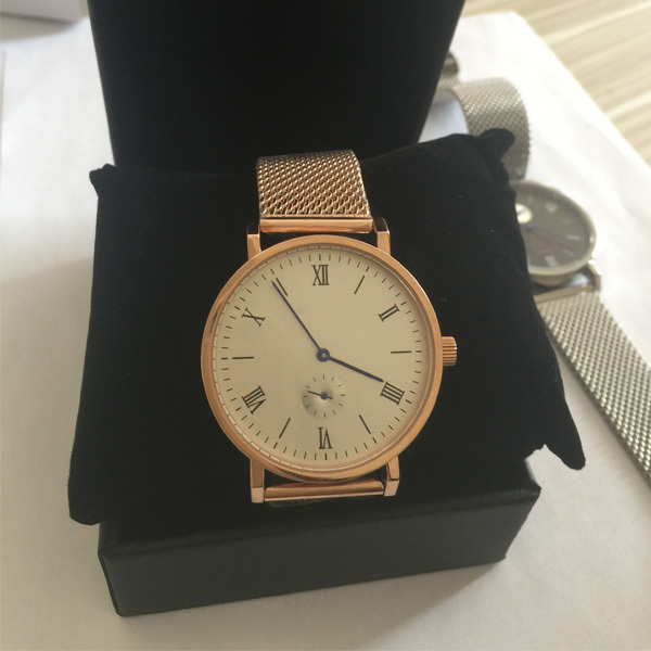 Rose gold plated stainless steel case men quartz fashion wrist watches for 2016