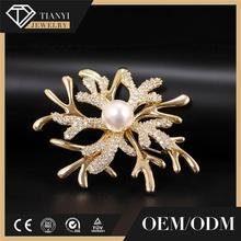 2017 Hot Sale gold plated pearl crystal jewelry
