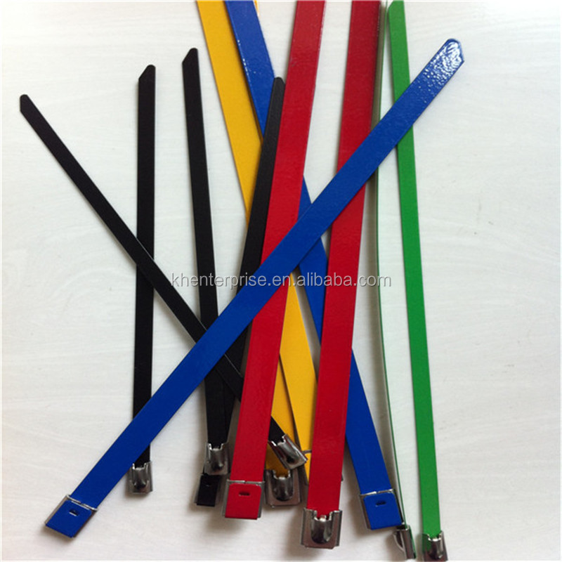 Self Locking Heavy duty Security PVC coated 316 Stainless Steel Cable Ties