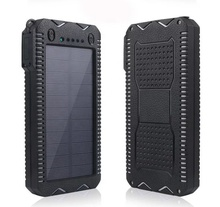 New Design OEM Portable led Mini Solar Power Bank 12000mAh CSCPOWER