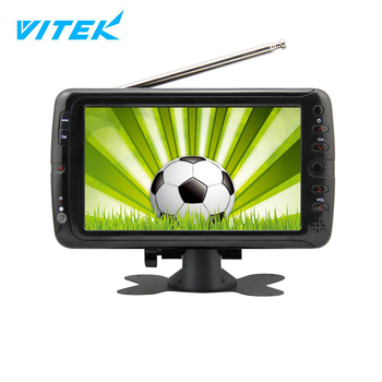 New Arrival 7 9 10 inch Cheap small size outdoor tv portable,12v dc solar led tv in pakistan