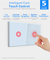 Home automation touch sensitive 908.4mhz us 2gang 16A max wireless zwave smart light switch