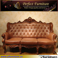Italian antique wooden style sofa China supplier PFS5778