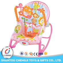 High quality electric cradle pink rabbit plastic old baby swing