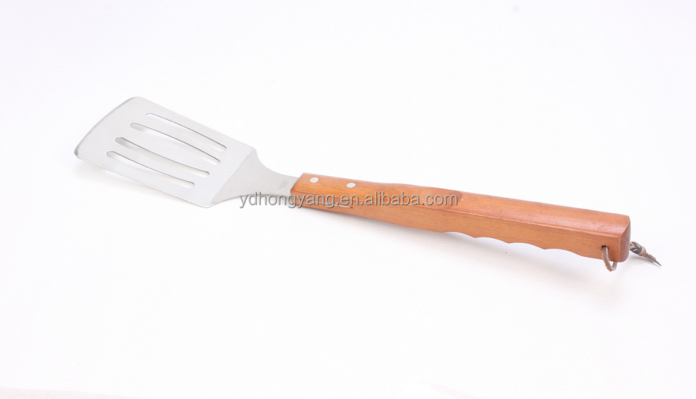 nice design competitive wooden handle 3pcs barbecue tools set
