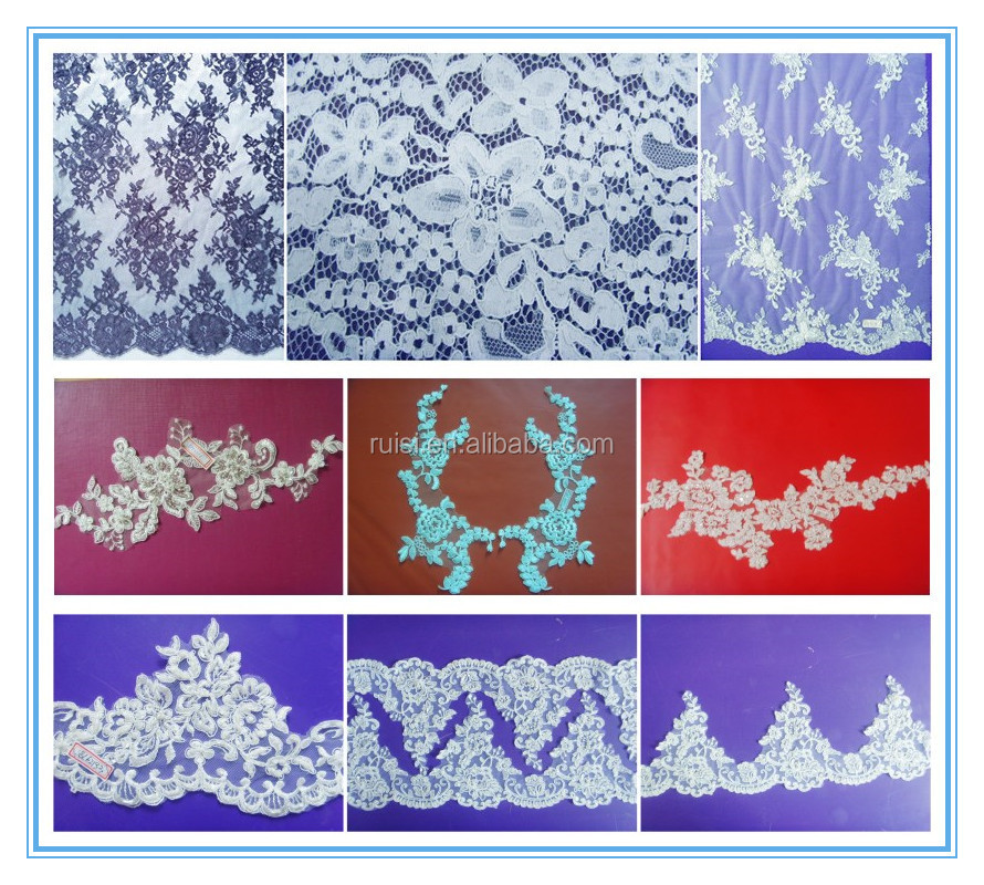Jacquard Technic Moroccan African Cord Lace Fabric Wholesale