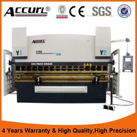 Accurl 3 axis cnc bending machine 125 ton 2500mm with Delem DA52s CNC Control / Y1 Y2 X - axis Laser Safe