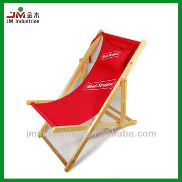 Outdoor Wooden Foldable Beach Sling Chair