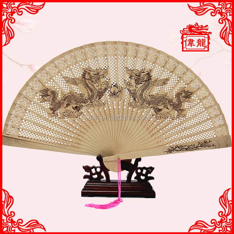Chinese wooden hand fans for wedding GYS103
