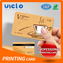 Cheap white stock embossing numbered plastic printing cards with factory price