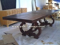 Antique Solid Wood Dining Table - Wooden Furniture - Indonesia Furniture Manufacture