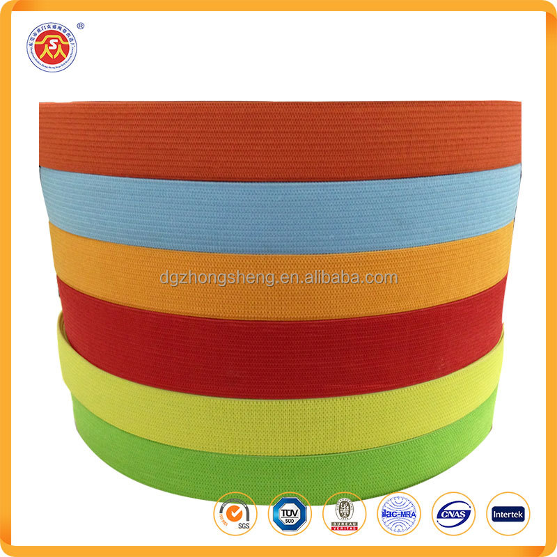 High quality different color custom jacquard woven elastic webbing