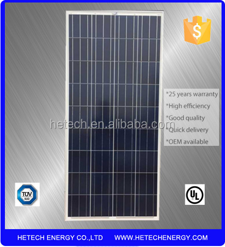 chinese pv supplier photovoltaic panels 130W Poly Solar Panel for sale