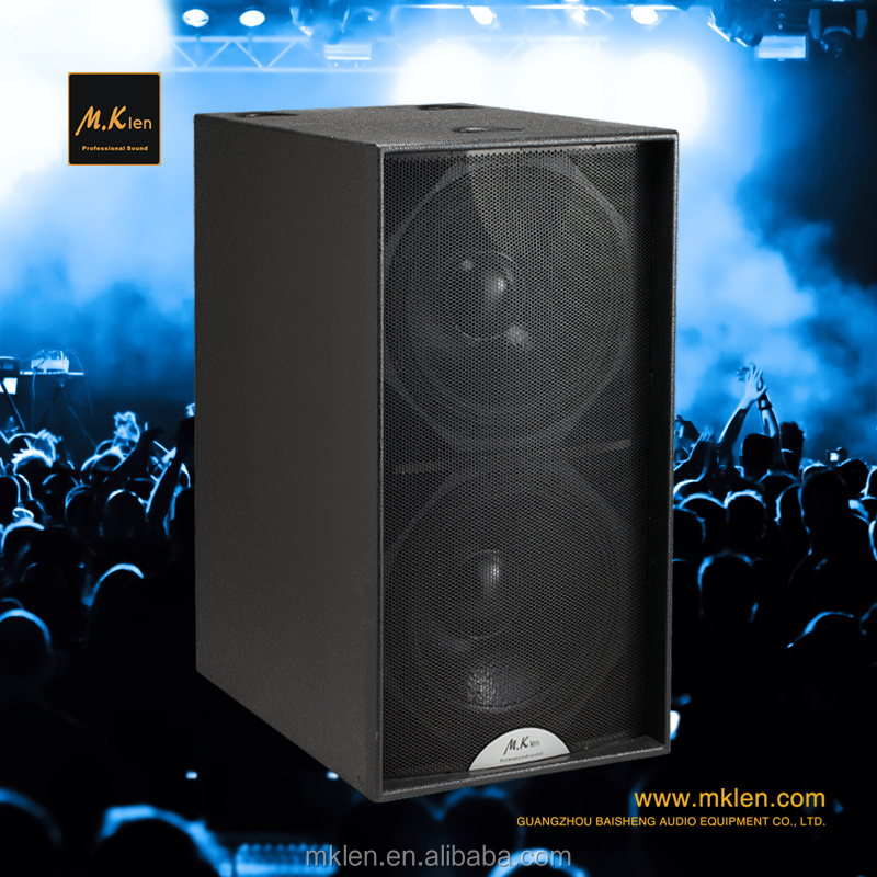 Professional 18 Inch Passive Sub-bass PA Loudspeaker with Built-In Mixer