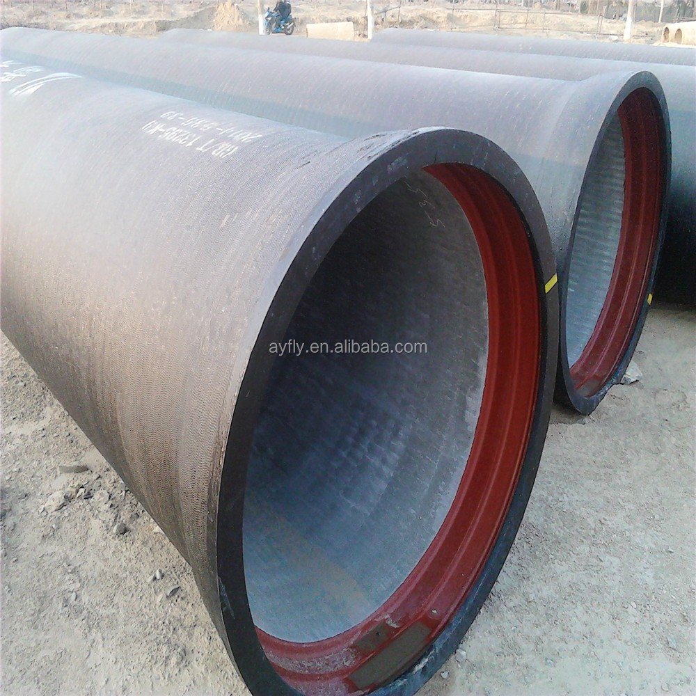 water pressure test ductile iron pipe class k9 used for gas oil